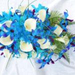 silk orchid bouquet