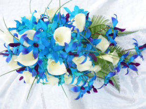 silk orchid bouquet