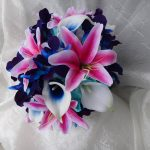 Tiger lily galaxy orchid bouquet