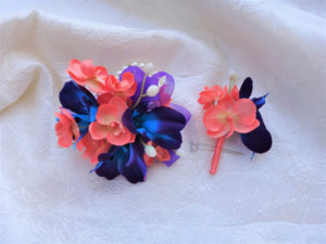 Silk wrist corsage for proms and wedding