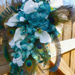 teal cascading bouquet