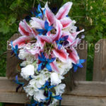 cascading silk flower bouquet