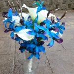 blue orchid bouquet