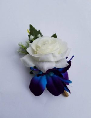Rose galaxy orchid boutonniere