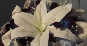 Casablanca lily and galaxy orchid bouquet
