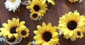 Sunflower and daisy bouquet set