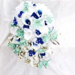 mint_navy silk bouquet