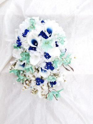 mint_navy silk bouquet