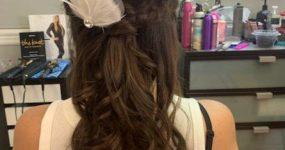 Small bridal hair piece, flower girl's hair clip